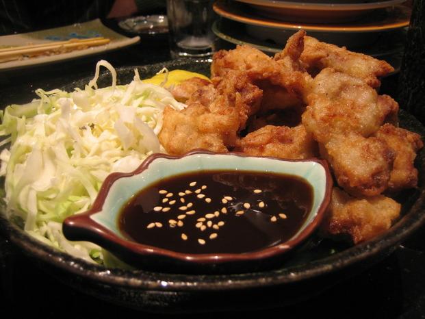 Gà chiên - Bánh xèo kiểu Nhật