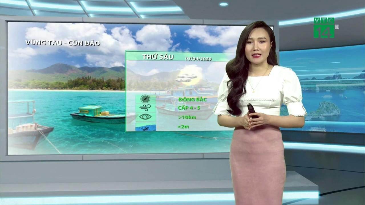 Thời tiết biển 03/04/2020: Mưa dông mở rộng trên biển, tầm nhìn giảm mạnh