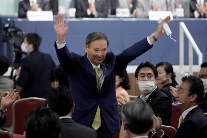 Ông Suga đắc cử lãnh đạo Đảng cầm quyền Nhật Bản