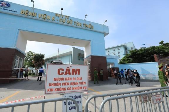 Covid-19 hôm nay: 3 cơ sở của BV K bị phong tỏa, Thường Tín - Hà Nội thêm nhiều ca nhiễm