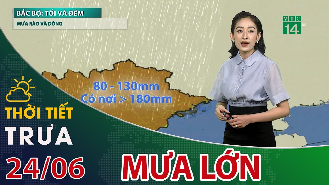 Thời tiết trưa, chiều 24/06/2021: Vùng núi và trung du Bắc Bộ đề phòng mưa lớn